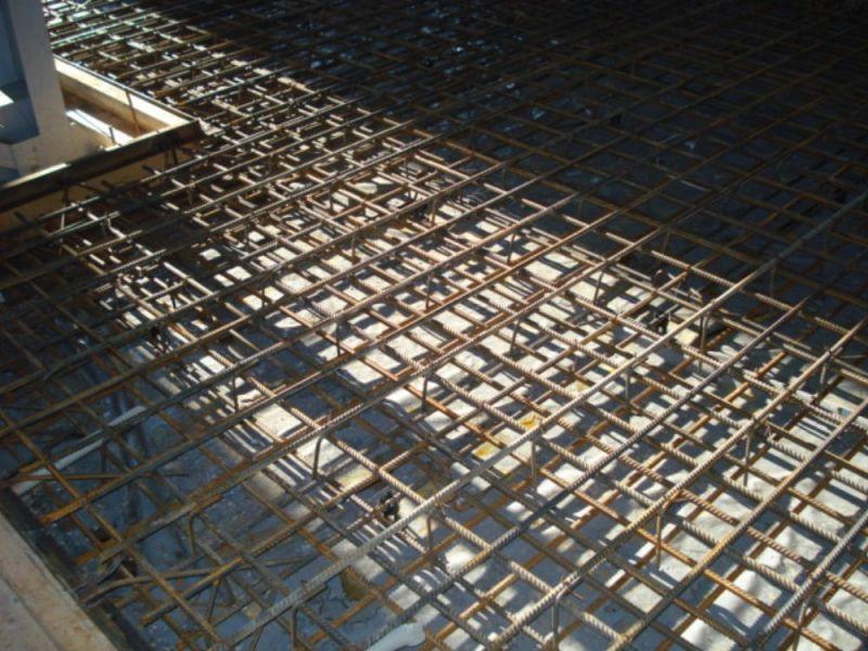 Армированное основание для заливки бетоном
