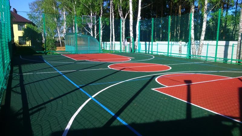 Строительство спорт площадок для волейбола, баскетбола, футбола, тенниса и др.